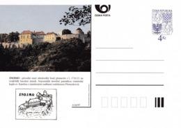 Czech Republic 1997 Postal Stationery Card: Architecture Castle Lion Eagle; ZNOJMO A64/97; - Architektur
