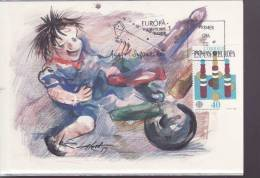 ESPAGNE  EUROPA CEPT 89 CARTE MAXIMUM  NUM YVERT 2620 JEUX D ENFANTS - Europa-CEPT