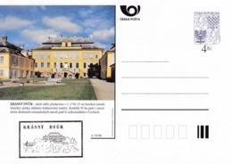 Czech Republic 1998 Postal Stationery Card: Architecture Castle Lion Eagle; KRASNY DVUR A70/98; - Architektur