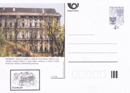 Czech Republic 1998 Postal Stationery Card: Architecture Castle Lion Eagle; PLUMLOV A71/98; - Architektur