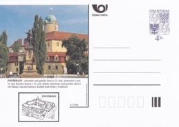Czech Republic 1998 Postal Stationery Card: Architecture Castle Lion Eagle; PODEBRADY A72/98; - Architektur