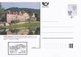 Czech Republic 1998 Postal Stationery Card: Architecture Castle Lion Eagle; PRAHA: ZBRASLAV A73/98; - Architektur