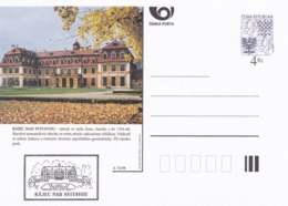 Czech Republic 1998 Postal Stationery Card: Architecture Castle Lion Eagle; RAJEC NAD SVITAVOU A74/98; - Architektur