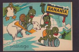 Image Publicité BANANIA Publicitaire Réclame Patinage Sport Voir Scan Du Dos Ours Polaire Pingouin - Pubblicitari