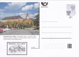 Czech Republic 1998 Postal Stationery Card: Architecture Castle Lion Eagle; ROUDNICA NAD LABEM A75/98; - Architektur