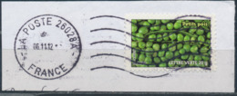 France - Légumes (Petits Pois) YT A739 Obl. Ondulations Et Dateur Rond Sur Fragment - Francia