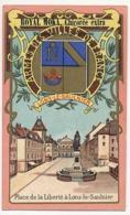 Chromo Pub ROYAL MOKA - Bourgeois & Labre, Cambrai Proville (Nord) Armes Des Villes De France - LONS-LE-SAULNIER - Tea & Coffee Manufacturers