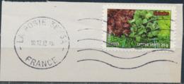 France - Légumes (Salades) YT A740 Obl. Ondulations Et Dateur Rond Sur Fragment - Francia