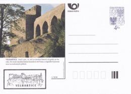 Czech Republic 1998 Postal Stationery Card: Architecture Castle Lion Eagle; VELHARTICE A78/98; - Architektur