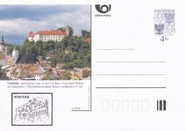 Czech Republic 1998 Postal Stationery Card: Architecture Castle Lion Eagle; VIMPERK A79/98; - Architektur