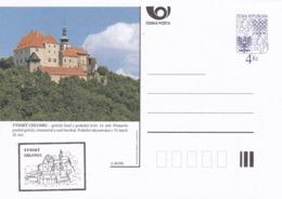 Czech Republic 1998 Postal Stationery Card: Architecture Castle Lion Eagle; VYSOKY CHLUMEC A80/98; - Architektur