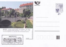 Czech Republic 1999 Postal Stationery Card: Architecture Castle Lion Eagle; BRTNICE A81/99; - Architektur