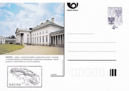 Czech Republic 1999 Postal Stationery Card: Architecture Castle Lion Eagle; KACINA A84/99; - Architektur