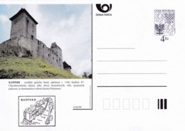 Czech Republic 1999 Postal Stationery Card: Architecture Castle Lion Eagle; KASPERK A85/99; - Architektur