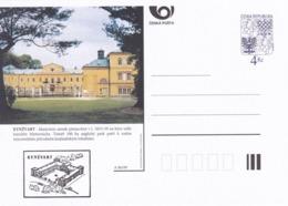 Czech Republic 1999 Postal Stationery Card: Architecture Castle Lion Eagle; KYNZVART A86/99; - Architektur