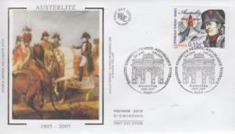 Enveloppe  FDC   1er   Jour   FRANCE   NAPOLEON    Bataille  D' AUSTERLITZ     2005 - Napoléon