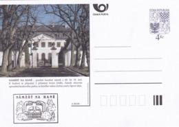 Czech Republic 1999 Postal Stationery Card: Architecture Castle Lion Eagle; NAMEST NA HANE A89/99; - Architektur