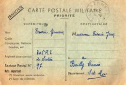 TB 2712 - MILITARIA - Carte En Franchise Militaire - Soldat G. TESSIER Au 306 ème Rgt D'Inf SP 97 Pour BAILLY - CARROIS - Marcophilie (Lettres)