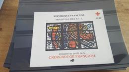 LOT 478392 TIMBRE DE FRANCE NEUF** LUXE CROIX ROUGE 1981 - Carnets