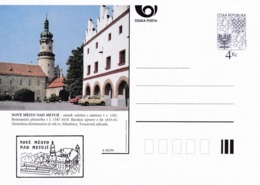Czech Republic 1999 Postal Stationery Card: Architecture Castle Lion Eagle; NOVE MESTO NAD METUJI A90/99; - Architektur