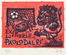 Ex Libris Paolo Dalri - Remo Wolf (1912-2009) Gesigneerd - Voetbal Football - Ex-Libris