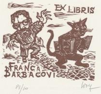 Ex Libris Franca Barbacovi - Remo Wolf (1912-2009) Gesigneerd - Ex-Libris
