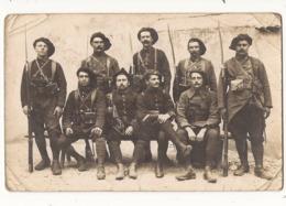 Carte Fantaisie Carte Photo Miltaria Soldats Chasseurs Alpins - Mannen