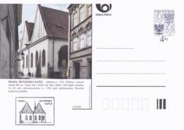 Czech Republic 1999 Postal Stationery Card: Architecture Castle Lion Eagle; PRAHA: BETLEMSKA KAPLE A92/99; - Architektur