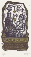 Ex Libris Paolo Dalri (lapis Philosophorum) - Remo Wolf (1912-2009) Gesigneerd - Ex-Libris