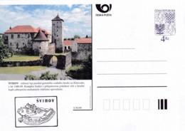 Czech Republic 1999 Postal Stationery Card: Architecture Castle Lion Eagle; SVIHOV A95/99; - Architektur