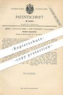 Original Patent - Henry Gustavus Fiske , San Francisco , California , USA , 1885 , Künstl. Fassaden - Stein | Klinker - Historische Dokumente
