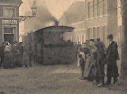 Moerzeke - Aankomst Van Den Stoomtram (top Animation Tram Tramway, Sport-club Lievens 1910 Uitg. V. Saerens Zie ZOOM) - Hamme