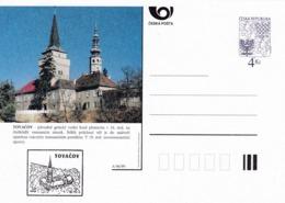 Czech Republic 1999 Postal Stationery Card: Architecture Castle Lion Eagle; TOVACOV A96/99; - Architektur