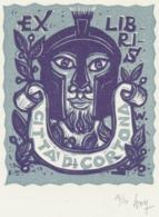 Ex Libris Citta Di Cortona - Remo Wolf (1912-2009) Gesigneerd - Ex-Libris