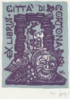 Ex Libris Citta Di Cortona - Remo Wolf (1912-2009) Gesigneerd - Exlibris