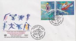 Enveloppe  FDC  1er  Jour   NATIONS  UNIES   VIENNE   100éme  Anniversaire  Des   JEUX  OLYMPIQUES    1996 - Juegos Olímpicos