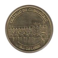 37009 - MEDAILLE TOURISTIQUE MONNAIE DE PARIS 37 - Château Chenonceau - 2017 - 2017
