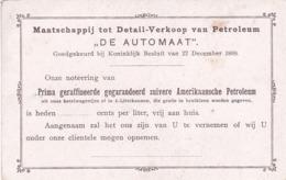 """193711Maatschappij Tot Detail -  Verkoop Van Petroleum ,, De Automaat"""" - Reclame"""