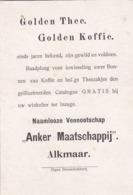 """193714,,Anker Maatschappij""""  Alkmaar. Golden Thee. Golden Koffie (eigen Stoomdrukkerij) - Reclame"""