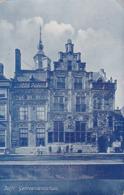 """193715,,Anker Maatschappij"""" Alkmaar. Golden Thee. Golden Koffie (eigen Stoomdrukkerij) (rechts Scheurtje) - Reclame"""