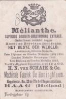 193772H. N. Van Schaik &amp  Co. Machinale Fabriek De Honingbloem (Hoest En Borst Aandoeningen) Amsterdam, Zilveren Meda - Reclame