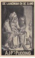 193775 A.J.P,s Pudding (Fabelen Van La Fontaine) De Landman En De Slang - Reclame