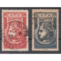LOT TIMBRES RADIODIFFUSION 1935-37 N° 1 Et N° 2 Oblitérés Côtes: 55 Euros - Segnatasse