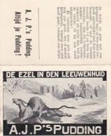 193776A.J.P,s Pudding (Fabelen Van La Fontaine) De Ezel In De Leeuwenhuid - Reclame