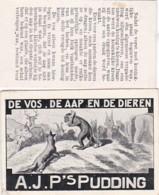 193777A.J.P,s Pudding (Fabelen Van La Fontaine) De Vos, De Aap En De Dieren (voorkant Een Kleine Vouw Links Plaatjes - Reclame