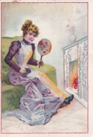193782De Amsterdamsche Stoom-Koffiebranderij Bloemen &  Martens, De Blauwe Reiger. Gedeponeerd Merk. (links  2 Vouwe - Autres