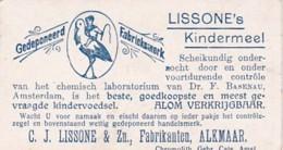 193793Lissone's Kindermeel C.J. Lissone En Zoon. Fabrikanten. Alkmaar. Verzamelplaatjes ,,Sinbad De Zeeman: De Zee - Reclame