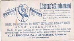 193796Lissone Kindermeel C.J. Lissone En Zoon. Fabrikanten. Alkmaar. Verzamelplaatjes  ,, Vrijheer Van Mnchenha - Reclame