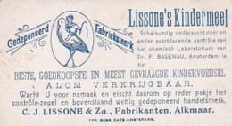 193797Lissone's Kindermeel C.J. Lissone En Zoon. Fabrikanten. Alkmaar. Verzamelplaatjes  ,, Stormachtig Weer - Reclame