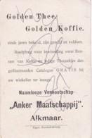 """1937101Golden Thee. Golden Koffie. ,,Anker Maatschappij""""  Alkmaar (Eigen Stoomdrukkerij)Rome - Reclame"""